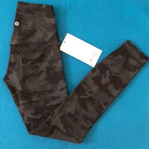 "NWT Lululemon Align tights 25"" incognito camo sz 2"